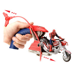Moto Lanceur et Figurine Spiderman 3
