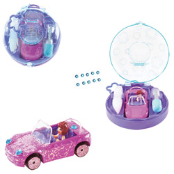 Polly Pocket Micro voiture paillette