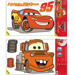 Blister de 2 stickers : Cars