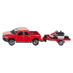 Pick-Up Avec Kart Et Sa Remorque