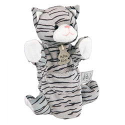 Marionnette Chat Tigré 25 cm