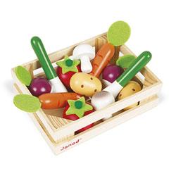 Cagette de 12 légumes en bois