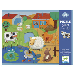 Puzzle tactile 12 pièces ferme