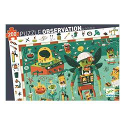 Puzzle d'observation 200 pièces laboratoire fou