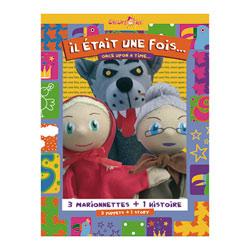 Marionnettes Coffret Trio Chaperon rouge, Loup et Mère Grand