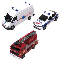 Lot de 3 véhicules d'urgence