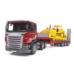 Camion de transport Scania R-serie avec Bulldozer Caterpillar