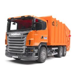 Camion poubelle orange