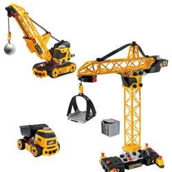 Set construction grue avec camion benne