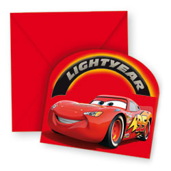 6 Cartes D'invitation Cars
