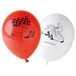 6 Ballons imprimés CARS