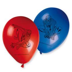 6 Ballons imprimés Spiderman