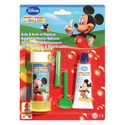 Bulles de savon et pâte à ballons Mickey