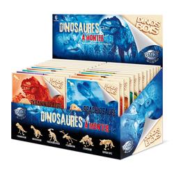 Dinos Bois - Présentoir 24 pièces en assortiment