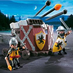 4867-Baliste à 3 projectiles et chevaliers du Lion