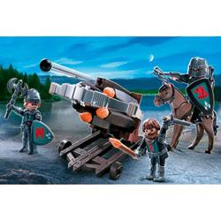 4868-Baliste à 6 projectiles et chevaliers du Faucon