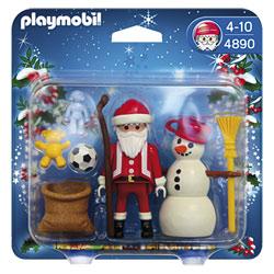 4890-Père Noël Et Bonhomme De Neige