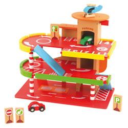 Garage en bois + véhicules