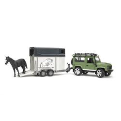 Land Rover et son van BRUDER