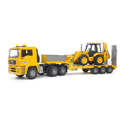 Camion de transport Man + Tractopelle JCB 4CX