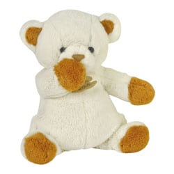 Peluche Ours Chocolat Blanc