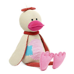 Canard Ducky rose assis