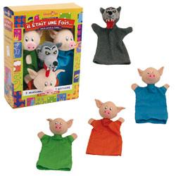 Coffret Marionnettes 3 Petits Cochons