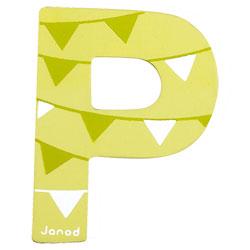 Lettre décorative en bois -P