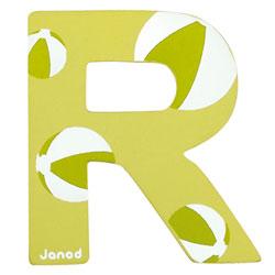 Lettre décorative en bois -R