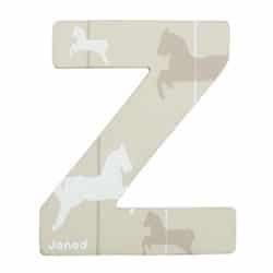 Lettre décorative en bois -Z
