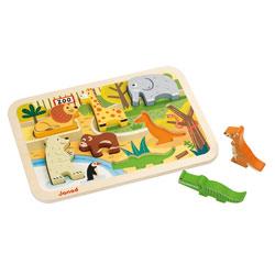 Encastrement bois-Chunky Puzzle Zoo