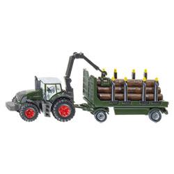 Tracteur avec remorque forestière
