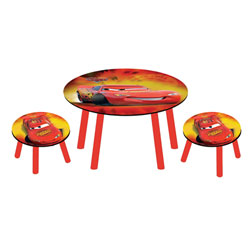 Table Ronde et 2 tabourets Cars