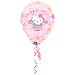 Ballon hélium Hello Kitty Happy Birthday