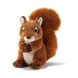 Peluche écureuil assis Hazely 23 cm
