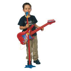 Guitare + micro sur pied