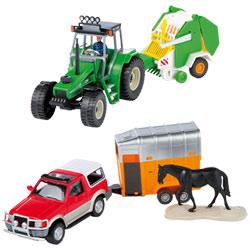Tracteur + remorque 1/32ème Assortiment