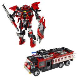 Kre-o transformers sentinel Prime Fire Truck