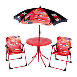 Table + Chaises + parasol Cars