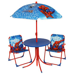 Table + Chaises + Parasol Spiderman