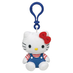 Porte Cles Hello-Kitty Bleu