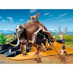 5101-Tente préhistorique avec chasseurs