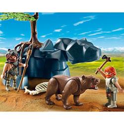 5103-Hommes préhistoriques avec ours
