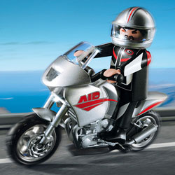 5117-Moto argentée