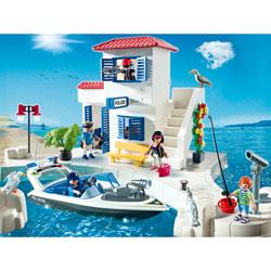5128-Police du port et bateau rapide