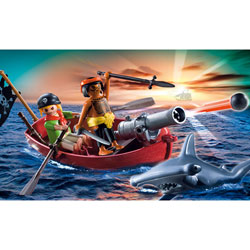 5137-Barque des pirates avec requin-marteau