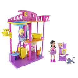Lot Polly Pocket + figurines et accessoires