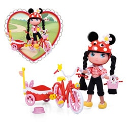 Poupée I Love Minnie Le Vélo