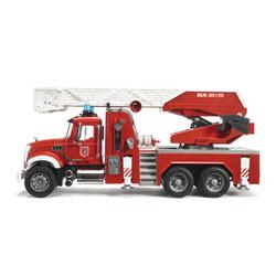 Camion Pompier Mack Granite avec échelle et pompe
