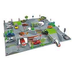Tapis de jeu 3D City 4 plaques + 1 véhicule